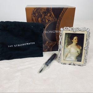 Jay Strongwater Silve Frame, Pearl and Crystal NWT